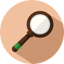 magnifying glass, Tools And Utensils, search, zoom, detective, Loupe BurlyWood icon