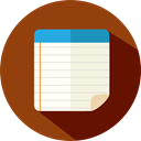 education, notepad, Notebook, Writing Tool SaddleBrown icon