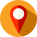 Map Point, placeholder, signs, map pointer, pin, Maps And Flags, Map Location Goldenrod icon