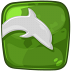 dolphin OliveDrab icon