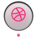 dribbble Fuchsia icon