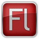 adobe, Flash Brown icon