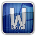 Ms, word MidnightBlue icon