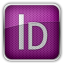 adobe, indesing Purple icon