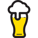 beer, pub, food, Alcoholic Drinks, Jar, Bar, Alcohol Black icon