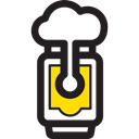pub, Jar, Alcohol, food, Alcoholic Drinks, Bar, beer Black icon