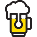 Jar, Bar, food, Alcoholic Drinks, pub, Alcohol, beer Black icon