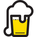 beer, food, pub, Alcoholic Drinks, Bar, Alcohol, Jar Black icon