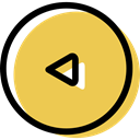 Multimedia, Orientation, previous, directional, Arrows, Back, Multimedia Option SandyBrown icon