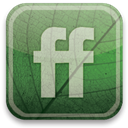 eco, Friendfeed, green DarkSlateGray icon