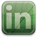 Linkedin, green, eco DarkSeaGreen icon