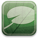 eco, green, Typepad Silver icon