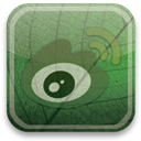 Weibo, eco, green DarkOliveGreen icon
