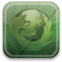 Firefox, eco, green DarkOliveGreen icon