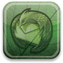 eco, green, Thunderbird DarkSlateGray icon