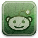 green, Reddit, eco DarkSlateGray icon