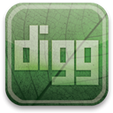 green, Digg, eco DarkSeaGreen icon