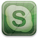 eco, Skype, green DarkSeaGreen icon