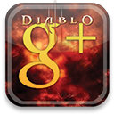 diablo, plus, google Black icon