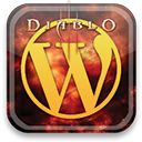 diablo, Wordpress Black icon