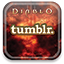 Tumblr, diablo Black icon
