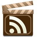 Rss, feed, movie Maroon icon