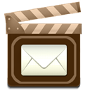 movie, Email Maroon icon