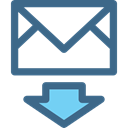 Note, incoming, mail, Email, Message, interface, envelope DarkSlateBlue icon