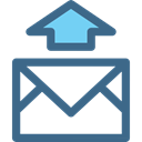 envelope, Note, interface, sending, Email, mail, Message DarkSlateBlue icon