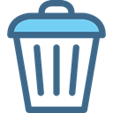 Garbage, Trash, recycle, Can, tin, Tools And Utensils DarkSlateBlue icon