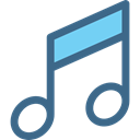 music player, musical, music, Quaver, musical note Black icon
