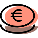 payment method, Cash, investment, Business, Money, Euro, banking LightSalmon icon