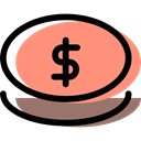 payment method, Business, Money, investment, Cash, banking, Dollar Symbol LightSalmon icon