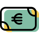 banking, investment, Business, Money, Cash, Euro, payment method DarkSeaGreen icon