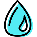drops, water, Rain, raindrop, drop, nature, Teardrop, weather Turquoise icon