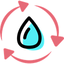 recycling, eco, cycle, water, nature Black icon