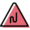 triangle, traffic sign, danger, warning, Alert, bend, signs LightCoral icon