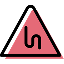 Alert, warning, signs, triangle, bend, traffic sign, danger Black icon