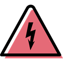 warning, triangle, Alert, danger, traffic sign, electricity, signs, Bolt LightCoral icon