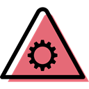 traffic sign, warning, signs, danger, Alert, settings, triangle Black icon