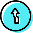 Circular, signs, ahead, Obligatory, traffic sign Turquoise icon