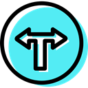 signs, turn, traffic sign, Circular, Obligatory Turquoise icon