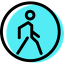 Circular, signs, Obligatory, traffic sign, pedestrian Turquoise icon