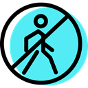 pedestrian, traffic sign, Circular, Obligatory, signs Turquoise icon