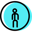 signs, pedestrian, traffic sign, Obligatory, Circular Turquoise icon