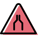 Alert, warning, danger, traffic sign, triangle, signs LightCoral icon