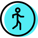 pedestrian, signs, traffic sign, Circular, Obligatory Turquoise icon