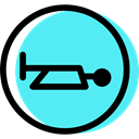 Obligatory, Circular, Horn, traffic sign, signs Turquoise icon