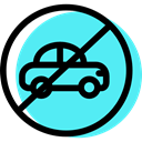 Automobile, traffic sign, signs, Circular, Obligatory, vehicle, Car Turquoise icon