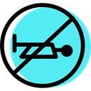 Circular, traffic sign, Horn, Obligatory, signs Turquoise icon